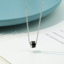 [New Forces] Black Ceramic Zircon Necklace Women's Korean-style Simple Cool Students Choker Simple MORI Series Pendant(China)