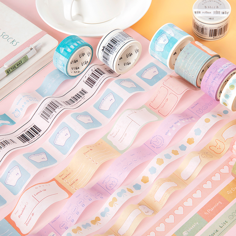 Mohamm Life Diary Series Tree Flower Washi Tape Japanese Stationery Kawaii Masking Tape Cute Scrapbooking Girl Decoration School