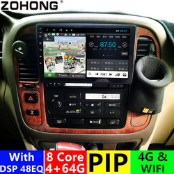4+64Gb DSP 8cores 4G android10 Car Multimedia Player for Toyota Land Cruiser 100 autoradio GPS Navigation Stereo for Lexus LX470