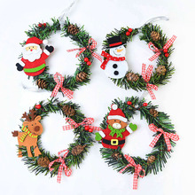 Hanging-Ornaments Christmas-Wreath Garland Artificial-Decoration Xmas-Tree Wall Mini