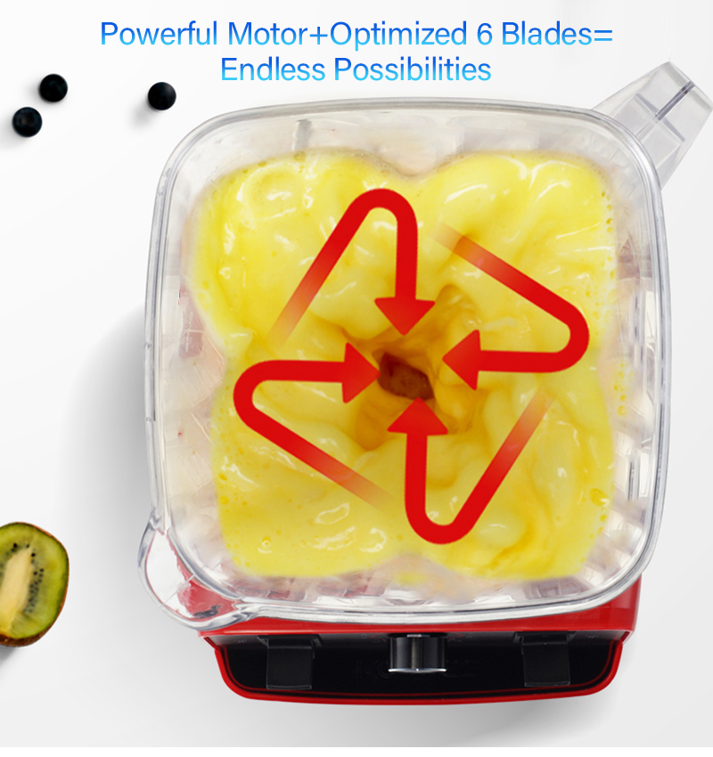 H5f1ae3d4ec9744e6b47d2085d87e465au BPA Free 3HP 2200W Heavy Duty Commercial Grade Blender Mixer Juicer High Power Food Processor Ice Smoothie Bar Fruit Blender