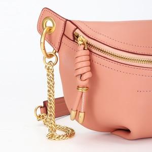 Image 3 - YIZHONG Luxury chest bag Women Bags Designer Fashion Genuine Leather Brand Crossbody Waist Bags for Women Chain messenger bag