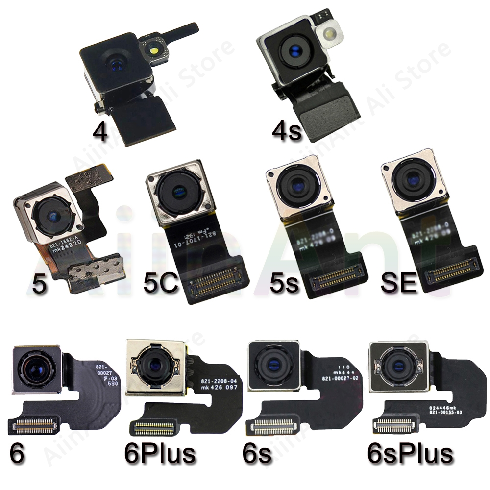 Original Main Rear Camera Flex For IPhone 6 6s Plus SE 5s 5 5c Back Camera Flex Cable Repair Phone Parts