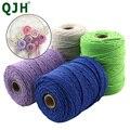 2mm/3mm Natürliche Handgemachte Baumwolle Cord Gewinde Makramee Häkeln Seil DIY Hängende Tapestry Weben Garn Stricken Seil DIY Handmade