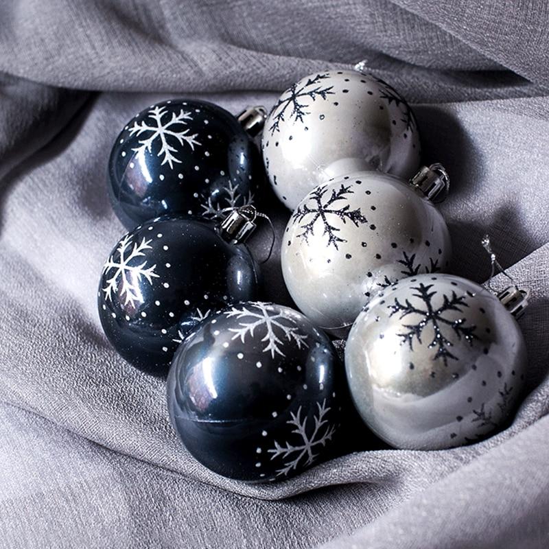 B8025A 8cm雪花彩绘圣诞球