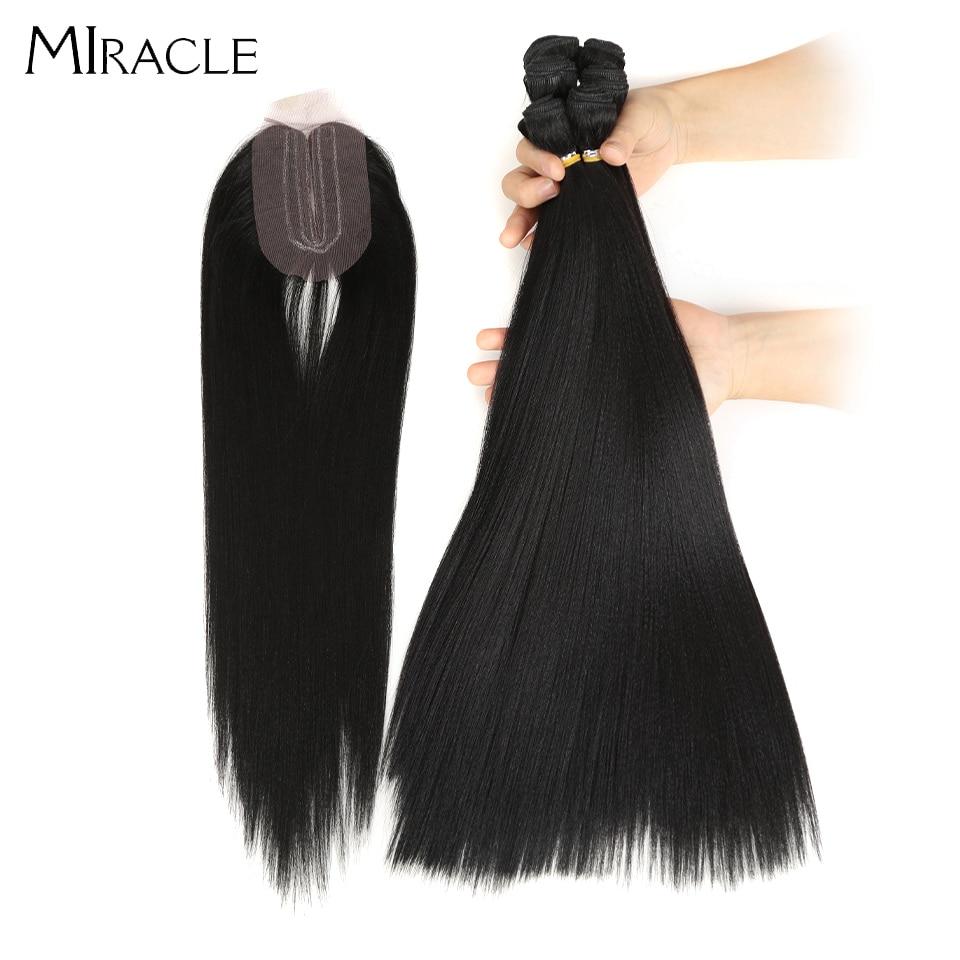Cabelo milagre yaki pacotes de cabelo reto