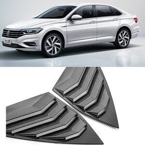 Автомобильный Стайлинг автомобиля стикер из углеродного волокна стиль 1/4 четверти боковое окно жалюзи совок крышка Vent для Volkswagen для JETTA 7 MK7 ...