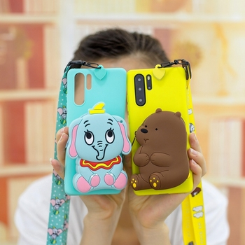 Case For Etui Hawei P20 P30 P8 Pro Lite Y5 Y6 2018 Y6 Y7 Y9 2019 Nova 3i Soft Silicone Panda Phone Case Soft Book Case Coque