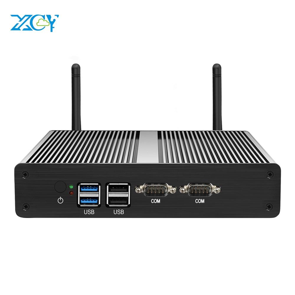 XCY Mini PC Intel Celeron J1900 J1800 Dual LAN Windows Pfsense Linux WiFi 2*RS232 HDMI VGA 4*USB Industrial Micro PC