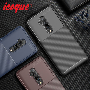 Luxury Carbon Case For Oneplus 7t Pro 7 Case Shockproof Original Silicone Cover Oneplus7t Phone Case for One Plus 7t 7 Pro 6t 6(China)