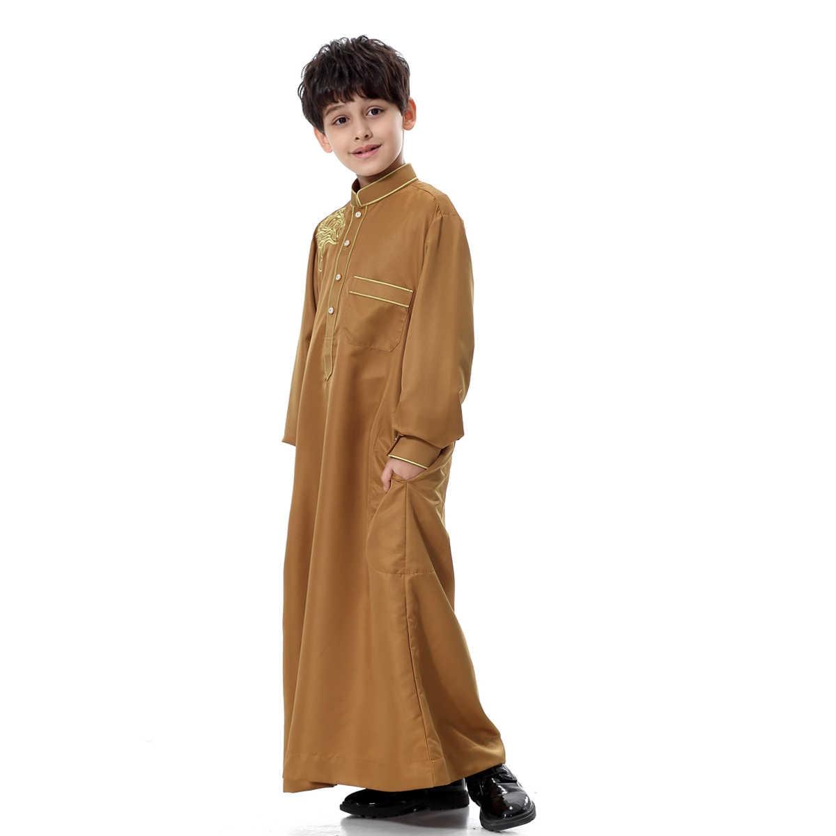 Eid少年子供アバヤドバイカフタンオマーンアラビアカタールイスラム教徒の子供ローブカフタンラマダンropa musulmana hombreイスラム服
