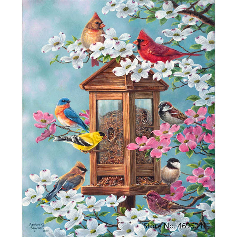Painting By Numbers Frameworks Coloring By Numbers Home Decor Pictures Animal Decorations RSB8348