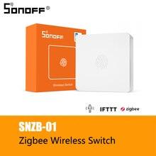 SONOFF SNZB 01 przełącznik bezprzewodowy Smart Home wersja Zigbee poręczny przycisk współpracuje z SONOFF ZigBee Bridge IFTTT aplikacja eWeLink