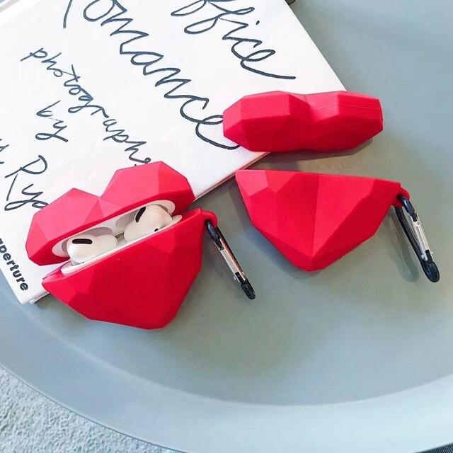 Funda de auriculares 3D para Airpods Pro funda de silicona corazón lindo dibujos animados auriculares/cubierta de auriculares para Apple Air Pods Pro 3 accesorios