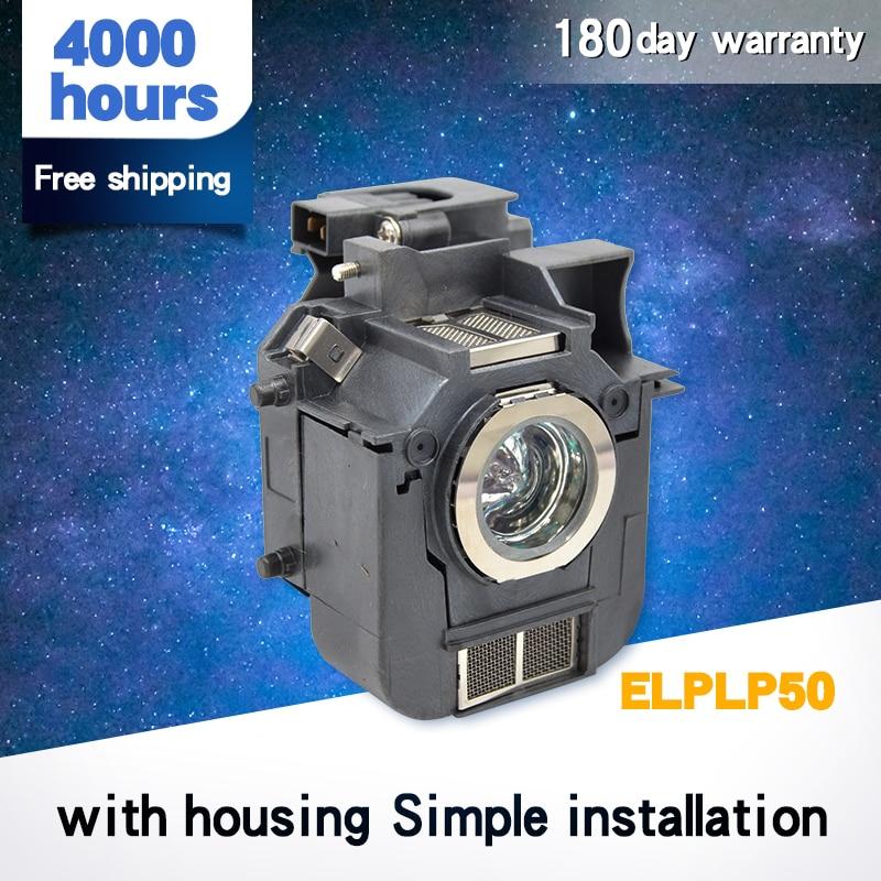 Lámparas De Proyección Con Cubierta Elplp50 Powerlite 85, 825, 826W, EB-824, EB-824H, EB-825H, EB-826WH, EB-84H EPS0N
