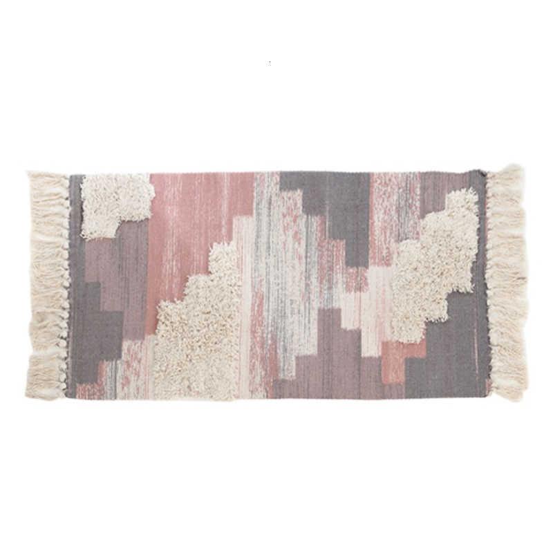 모로코 스타일 코튼 tassels 거실 용 카펫 침실 키즈 룸 러그 홈 카펫 플로어 도어 매트 tapete para sala area rug