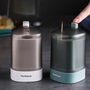 Automatic Toothpick Holder Container Household Table Toothpick Box Press Type Portable Living Room Toothpick Bucket