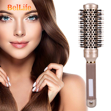 Nano Ionic Boar Bristle Hair Brush Salon Comb Barrel Blow Dry Hair Round Brush In 4 Sizes Professional Salon Styling Tools все цены