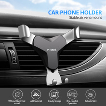 Gravity Reaction Car Mobile Phone Holder Clip Type Air Vent No Magnetic Mount GPS Car Smartphone Stand For iPhone Samsung Xiaomi