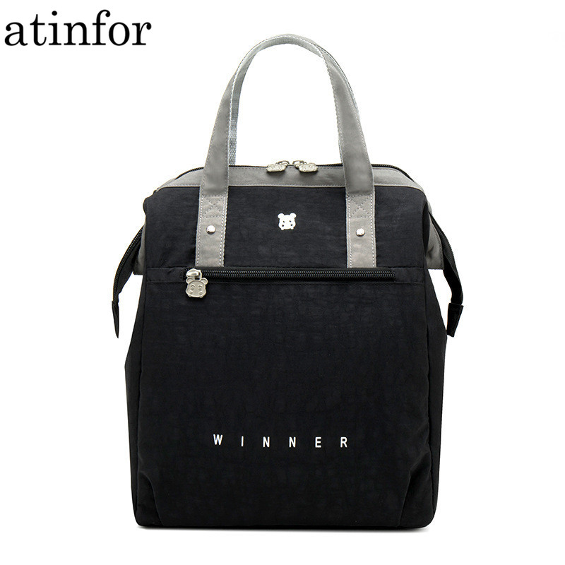Atinfor Brand Waterproof Lovely Thickened Travel Portable Large Capacity Thermal Lunch Bag Handbag