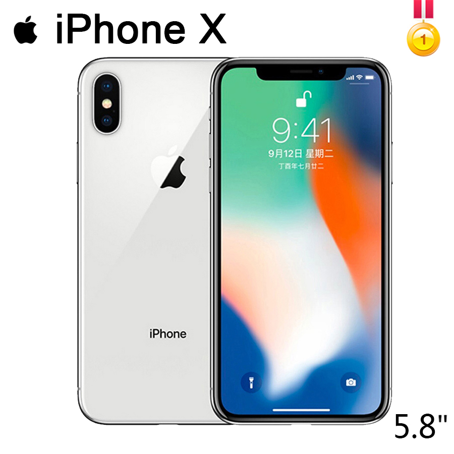 Original Apple IPhone X  Class A 3GB RAM 64GB/256GB ROM 5.8