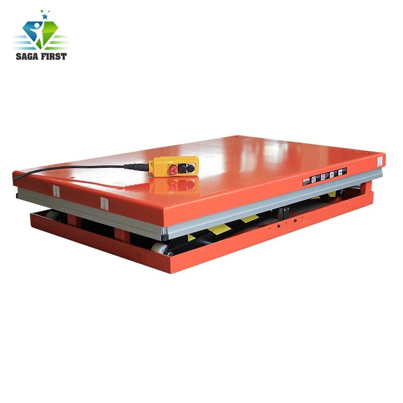 Table élévatrice hydraulique stationnaire de ciseaux de plate-forme élévatrice électrique de construction