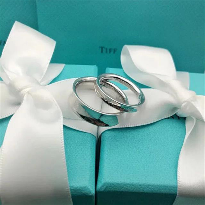 TIF S925 Sterling Silver Ring, Classic Logo 100% Sterling Silver. Temperament Ladies Jewelry Free Shipping