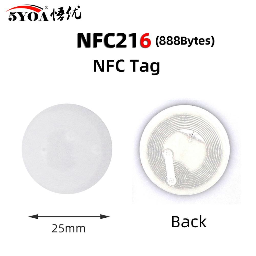 NFC Tag NFC 216 этикетка, 5 шт., 216 наклеек, значки, этикетка, стикер 13,56 МГц для huawei share ios13, ярлыки для автоматизации