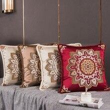 Европейский стиль, жаккард, элегантные цветочные Декоративные Чехлы для подушек, для автомобиля, дивана, украшение дома, квадратный Классический чехол для подушки