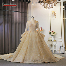 New Luxury glitter fabrics wedding dress dubai design wedding gowns 2020
