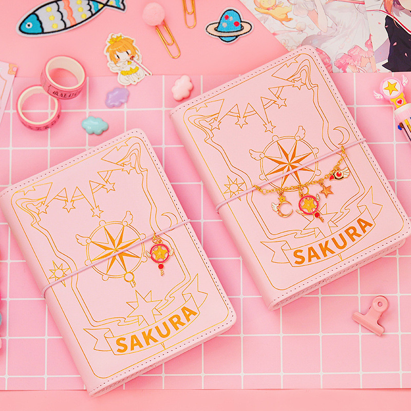 Anime Card Captor Sakura Handbook Looseleaf Diary Notebook School Season Cosplay Girly Heart Handbook Set Accessories
