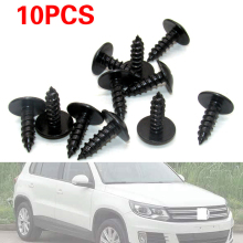 10 Pcs  Universal Car Auto 5x16mm Engine Cover Screws Fastener Undertray Splash guard Wheel Arch Torx Screws Clips For VW