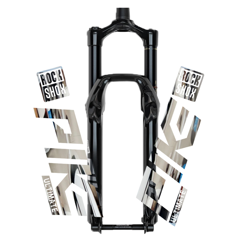 2020 Rockshox Pike Front Fork Sticker Bicycle Decorative Mountain Bike Waterproof Front Fork Transparent Bottom