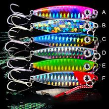 Fishing Accessories With Dual Hooks 7g 45mm Artificial Bait Reusable Metal Lure Jigging Spoon Freshwater Saltwater Hot New(China)