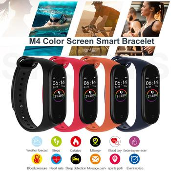 M4 Smart Band Sport Stride Meter Fitness Tracker Watch For Android 4.4 For IOS8.5 Touch Screen Heart Rate/Blood/Pressure Pedomer image