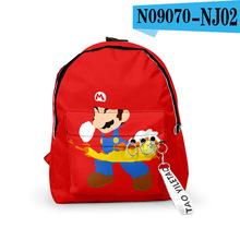 Super Mario Bros plecak torby szkolne torby podróżne Mochila wstążka pierścień koło plecak małe torby dla chłopców dziewcząt tanie tanio Poliester Tłoczenie Unisex Wewnętrzna rama 20-35 litr Komputer pośrednia Wnętrze slot kieszeń Miękki uchwyt NONE zipper