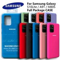 Funda de silicona Original para Samsung Galaxy S10Lite, funda protectora trasera suave de alta calidad para Samsung A91, M80s S10 LITE