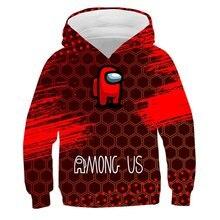 Nuevo juego entre nosotros divertido sudadera de dibujos animados de moda Casual 3D sudaderas con capucha niños estampado de moda Streetwear Sudadera con capucha Anime suéter ropa