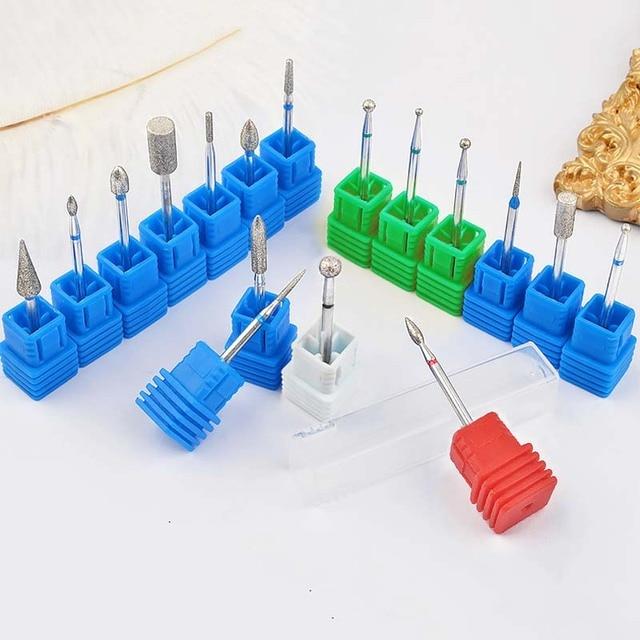 1 PC Nail Manicure Diamond Drill Milling Nail Cutter Electric Nail Drill Bit For Manicure Pedicure Drill Bits Accessories 2