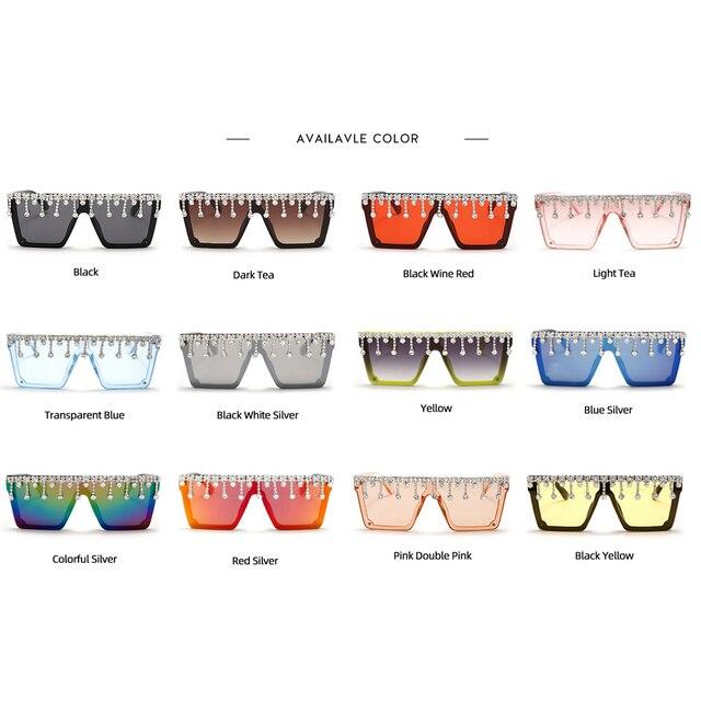 Фото новые квадратные солнцезащитные очки большого размера с бриллиантами цена