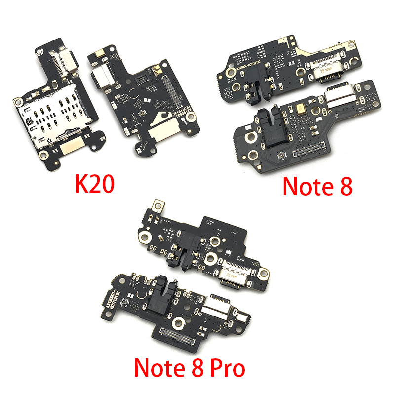 USB Port Charger Dock Plug Connector Charging Board FLex Cable For Xiaomi Mi 9T Redmi K20 Note 7 8 Pro Mic Microphone Board