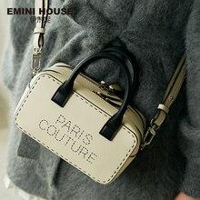 EMINI ev Paris serisi gelişmiş özel çift fermuarlı kadınlar için Crossbody çanta omuzdan askili çanta lüks çanta kadın çanta tasarımcısı