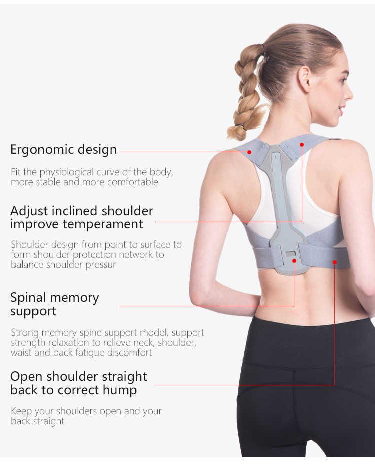 姿勢バックコレクター鎖骨背骨バックショルダーサポートベルト腰痛を軽減する姿勢補正防止前かがみユニセックス