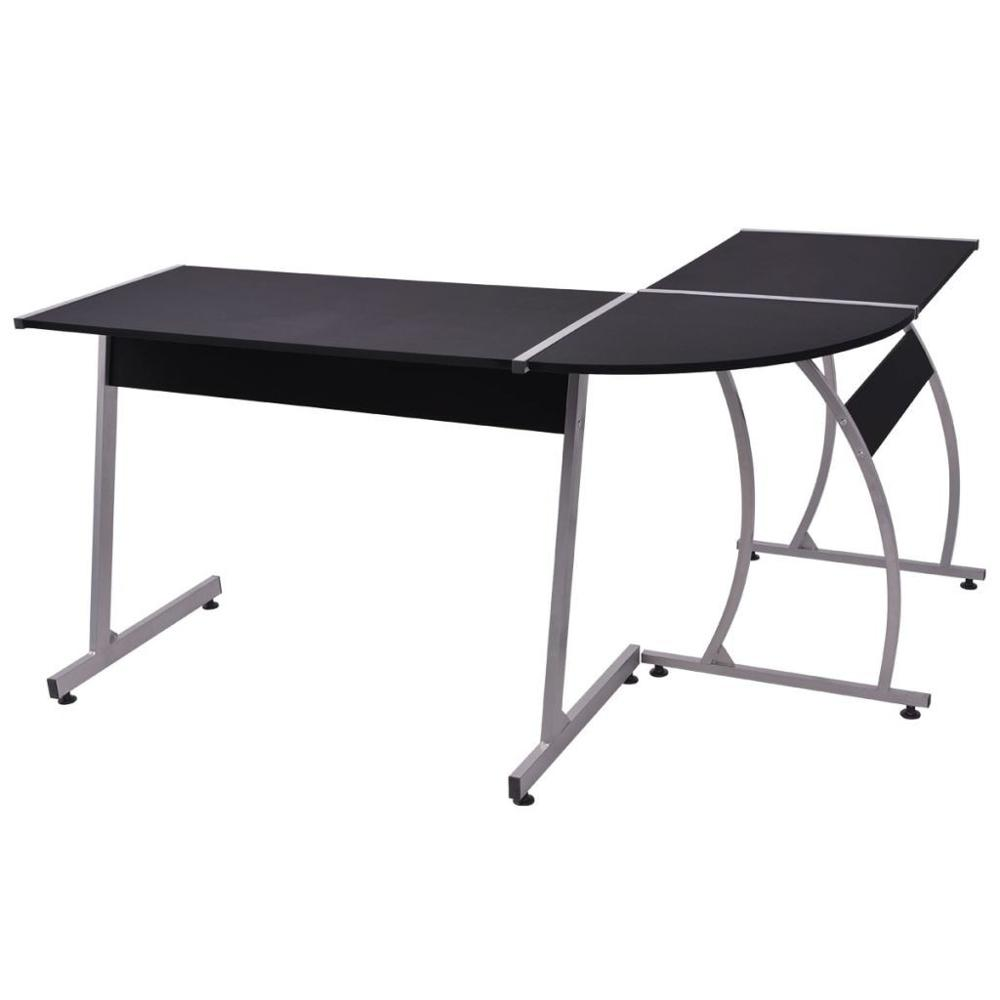 【USA Warehouse】Corner Desk L-Shaped Black
