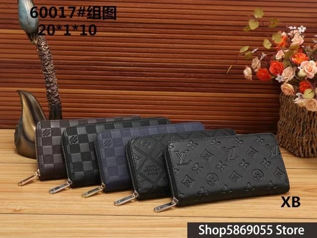 Luxury Brand Louis Vuitton- LV- Men Women Wallets Fashion Long Leather Top Quality Card Holder Classic Female Purse Wallet