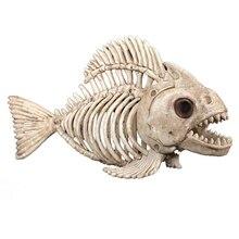 Скелет рыбы пластик животное скелет кости для ужасов Хэллоуин скелет животное Череп Скелет украшение на Хэллоуин