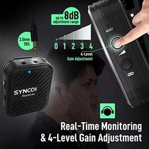 Image 3 - Беспроводной петличный микрофон SYNCO G1 G1A1 G1A2, передатчик для смартфонов, ноутбуков, DSLR, планшетов, видеокамер, рекордер pk comica