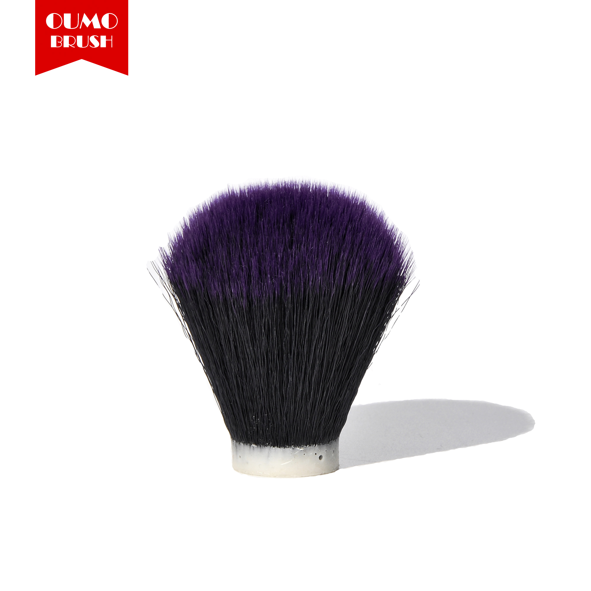 OUMO BRUSH-Tuexdo Purple Tip Synthetic Hair Knots Shaving Brush Knots