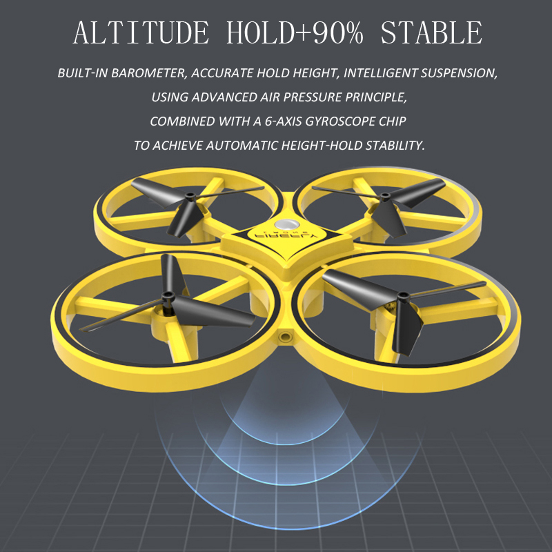 RC Drone Quadcopter Hand Induction Altitude Hold Gravity Sensor Infrared Obstacle Avoidance 2 4G Remote Control Quadcopter ZF04 in RC Helicopters from Toys Hobbies