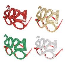 Frame Photo-Booth-Props Glasses Gift No Xmas Navidad Merry-Christmas-Ornaments Noel Cosplay